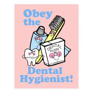 Lustiger Zahnarzthelfer Postkarte