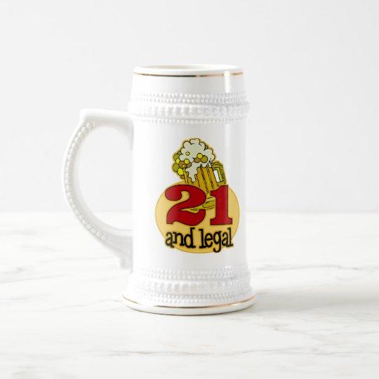 Lustiges 21. Geburtstags-Geschenk Bierglas