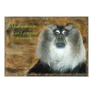Lustiges Affe-Party in der Park-Einladung 12,7 X 17,8 Cm Einladungskarte