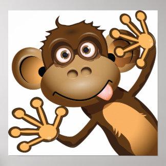 Lustiges Affe-Plakat Poster