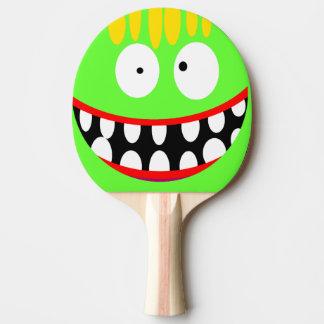 lustiges albernes Cartoonlächeln Tischtennis Schläger