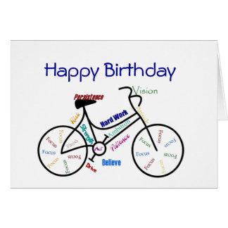 Lustiges Alters-Geburtstags-Fahrrad, fahrend, Grußkarte