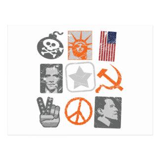 Lustiges antiobama historische Ikonen Postkarte