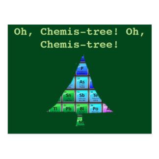 Lustiges Aussenseiter-Wortspiel: Oh, Chemis-Baum! Postkarte
