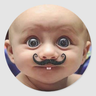 lustiges Baby Runder Aufkleber