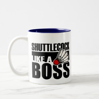 Lustiges Badminton Shuttlecock Kaffeehaferl