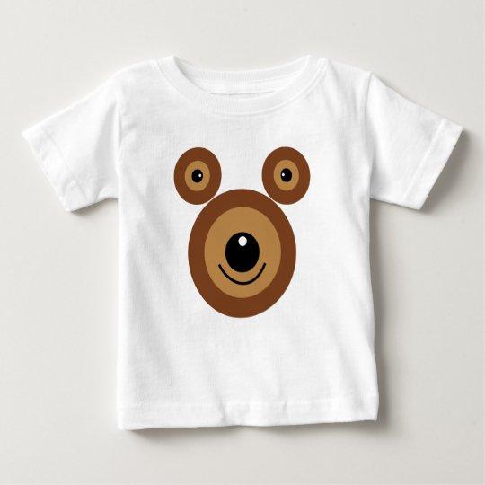 Lustiges Bärngesicht Baby T-shirt