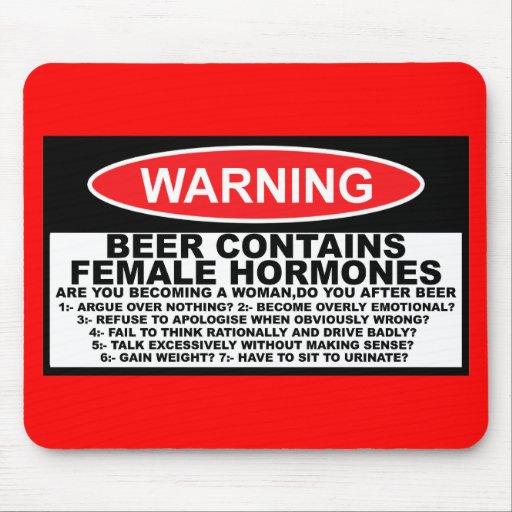Lustiges Bier, lustiges sexistisches Mauspads