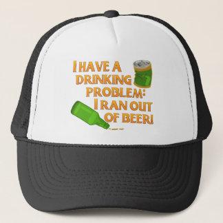 Lustiges Bier-trinkendes Problem Truckerkappe
