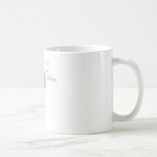 lustiges Bild eines rosa Dinosauriers TeaRex Kaffeetasse