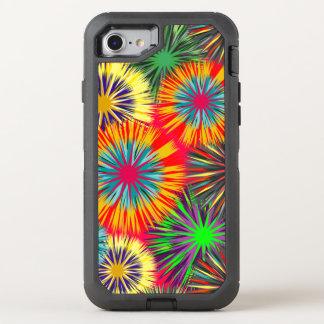 Lustiges buntes Feuerwerks-Muster OtterBox Defender iPhone 8/7 Hülle