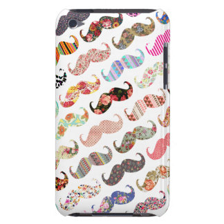 Lustiges buntes Schnurrbart Muster. Girly iPod Touch Cover