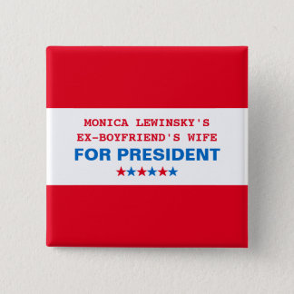 Lustiges Button Hillary-Clinton Präsidenten-2016