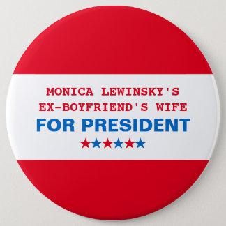 Lustiges Button Hillary-Clinton Präsidenten-2016