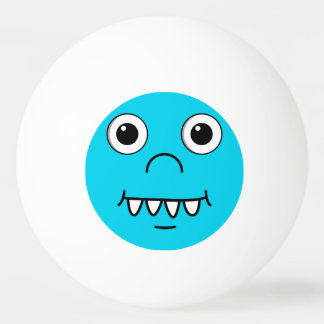 Lustiges Cartoongesicht Tischtennis Ball