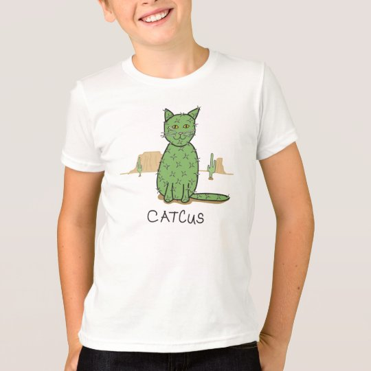Lustiges Catcus Kaktus-Zeichnen T-Shirt