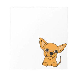 Lustiges Chihuahua-Hündchen Notizblock