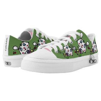 Lustiges Eis-Skaten-Kaninchen Niedrig-geschnittene Sneaker