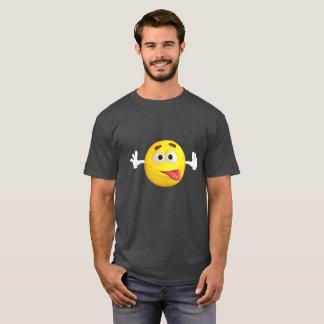 Lustiges Emoji, das heraus Zunge haftet T-Shirt