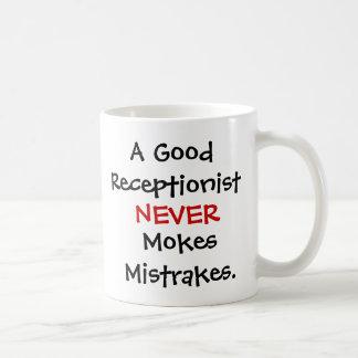 Lustiges Empfangsdamen-Witz-Zitat Kaffeetasse