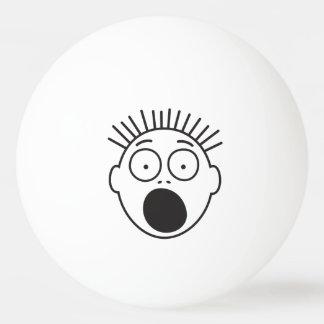 Lustiges erschrockenes Gesicht Ping-Pong Ball