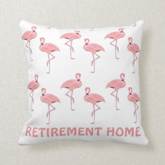 Lustiges Flamingo-Ruhestands-Zuhause Kissen