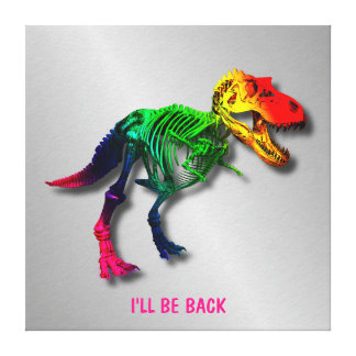 Lustiges Fossil des Regenbogen-T Rex mit Ihrem Leinwanddruck
