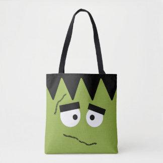 Lustiges Frankenstein stellen für Halloween Tasche