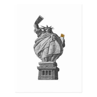 Lustiges Freiheitsstatue Postkarten