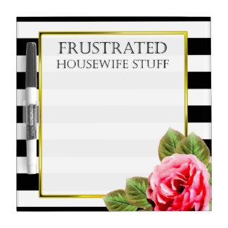 Lustiges frustriertes Hausfrau-Material Trockenlöschtafel