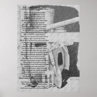 Lustiges Gedicht und Poster
