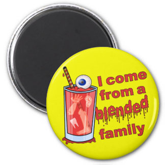 Lustiges gemischtes Familien-Wortspiel Runder Magnet 5,7 Cm