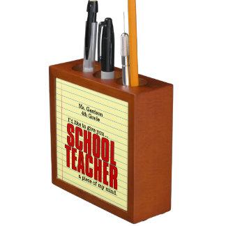 Lustiges Geschenk für den Schreibtisch des Lehrers Stifthalter