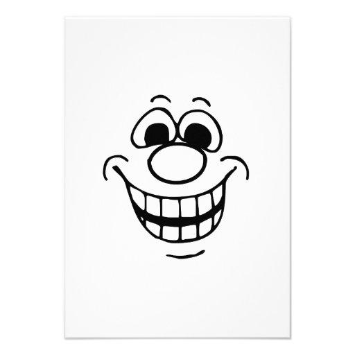 Lustiges Gesicht Einladungskarte