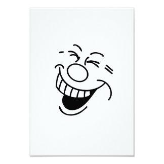 Lustiges Gesicht Personalisierte Ankündigungskarte