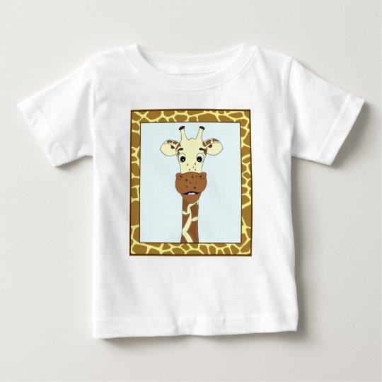 Lustiges Giraffen-Cartoon-Baby-Shirt Baby T-shirt