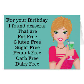 Lustiges Gluten-freie Geburtstags-Karte Grußkarte
