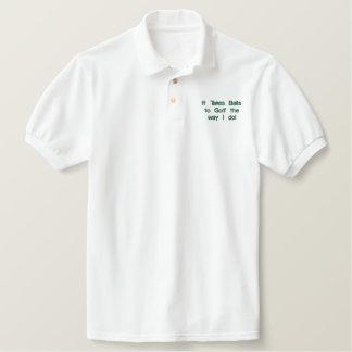 """Lustiges Golf-Shirt, """"es nimmt Bälle """" Polo"""