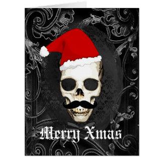 Lustiges gotisches Sankt-Weihnachten Karte
