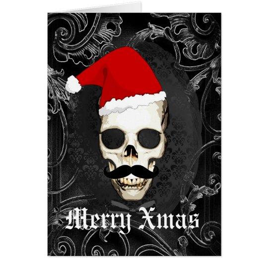 Lustiges gotisches Sankt-Weihnachten Mitteilungskarte