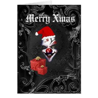 Lustiges gotisches schwarzes Weihnachten Sankt Karte