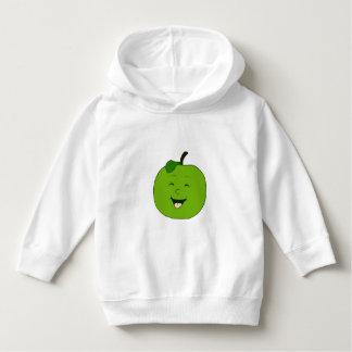Lustiges grünes Apple - KinderweißHoodie Hoodie