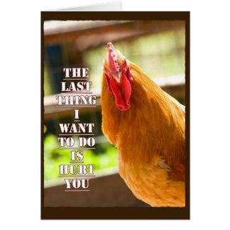 Lustiges Huhn, Hahn erhalten wohle Karte