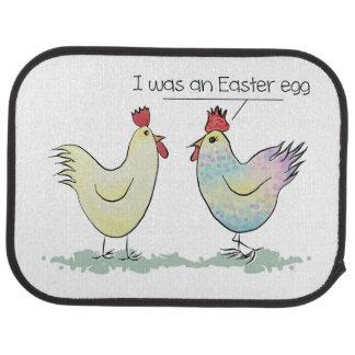 Lustiges Huhn war ein Osterei Autofußmatte