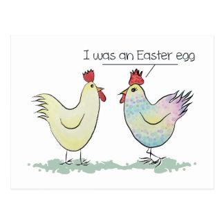 Lustiges Huhn war ein Osterei Postkarte