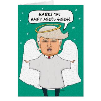 Lustiges identisches haariges Engels-Weihnachten Grußkarte