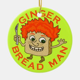 Lustiges Ingwer-Brot-Mann-Weihnachtswortspiel Keramik Ornament