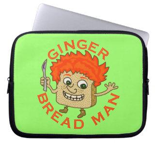 Lustiges Ingwer-Brot-Mann-Weihnachtswortspiel Laptop Sleeve