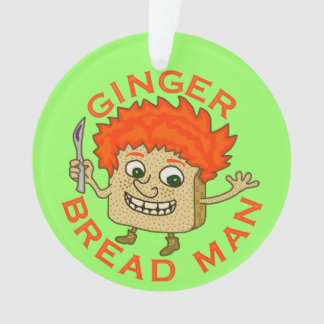 Lustiges Ingwer-Brot-Mann-Weihnachtswortspiel Ornament