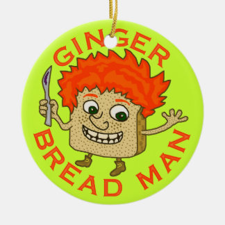 Lustiges Ingwer-Brot-Mann-Weihnachtswortspiel Rundes Keramik Ornament